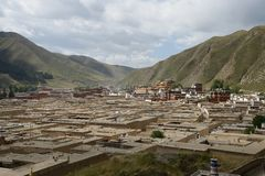 Morning Labrang Lamasery Stock Photography
