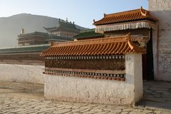 Morning Labrang Lamasery Royalty Free Stock Photos