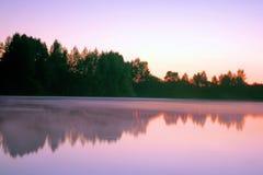Morning on the lake royalty free stock image