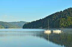 Morning on lake Stock Images
