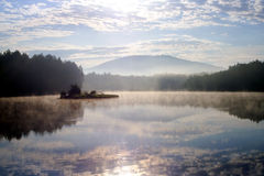 Morning on lake royalty free stock photography