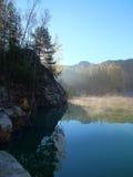 Morning lake stock image