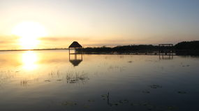 Morning by the lake. In Bacalar, Quintana Roo wake up at 6 am is just wonderful Stock Images