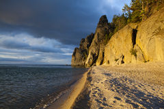 Morning on the lake Baikal Royalty Free Stock Photos