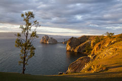 Morning on the lake Baikal Royalty Free Stock Image