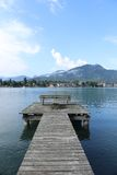 Morning on the lake in Bavaria Royalty Free Stock Photography