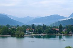 Morning on the lake in Bavaria Royalty Free Stock Photo