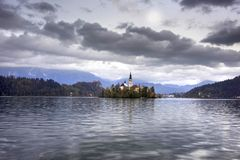 Morning on Lake Bled stock photo