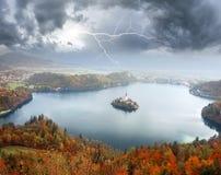 Morning on Lake Bled royalty free stock photo