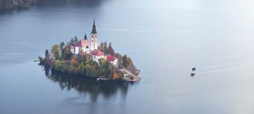Morning on Lake Bled royalty free stock images