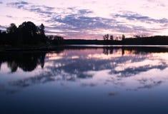 Morning lake clouds landscape Stock Image