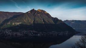 Morning on lake Como (Timelapse) stock video footage