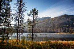 Morning on lake in East Kazakhstan Stock Images