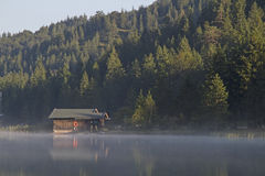 Morning on lake Ferchensee Stock Images