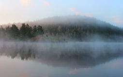Morning on Lake Ladoga, Karelia, Russia Royalty Free Stock Photo