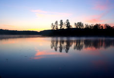 Morning lake landscape Royalty Free Stock Image