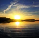 Morning lake landscape with sunrise Stock Images
