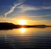 Morning lake landscape with sunrise Stock Photography