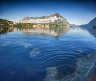 Morning on Lake Lecco. Lecco Royalty Free Stock Images