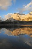 Morning lake and mountain Stock Images