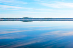 Morning Lake Onega. Early morning on the Lake Onega in Petrozavodsk. Karelia. Russia Stock Images