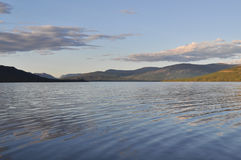 Morning on a lake in the Putorana plateau. Royalty Free Stock Image