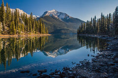 Morning lake reflection Royalty Free Stock Photos