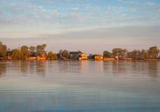 Morning on Lake Seliger Stock Image
