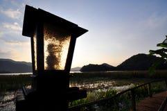 Morning on lake side resort. Image of morning landscape on lake side resort Stock Image