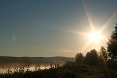 Morning on the lake Stock Photo
