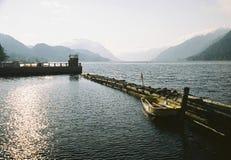 Morning on lake Teletskom. Altai. Lake Teletskoe. August 2006 Stock Photography