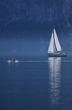 Morning of Lake Traunsee, Upper Austria. Lake Traunsee is a stunning sight, set amid unspoilt natural beauty in the heart of the Salzkammergut Lake District. The Stock Images