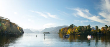 Morning lake View. Morning View of Lake Derwent royalty free stock photo