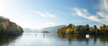 Morning lake View. Morning View of Lake Derwent Royalty Free Stock Photo