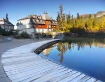 Morning Lakeside Scenery Stock Images