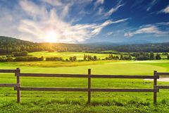 Morning landscape. Beautiful morning landscape in Norway Stock Photography