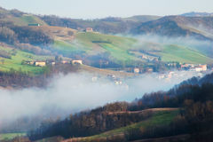 Morning landscape in the Apennines mountains Stock Image