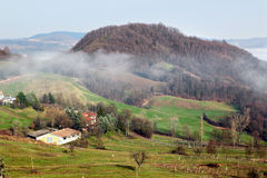 Morning landscape in the Apennines mountains Stock Photos