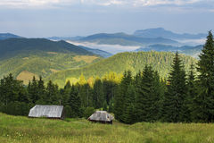 Morning landscape in Apuseni Mountains Royalty Free Stock Images