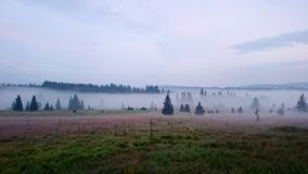 Morning landscape in Bohemian Forest. Czech Republic royalty free stock images