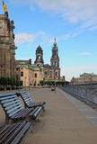 Morning landscape in Dresden. Germany Royalty Free Stock Images
