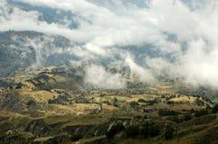 Morning landscape in Ecuador Andes. Photo was taken during trek around Quilotoa lagoon in Ecuador Royalty Free Stock Photos
