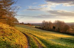 Morning landscape, England Stock Images