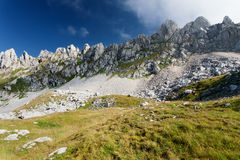 Morning landscape - inaccessible mountain peaks Stock Image