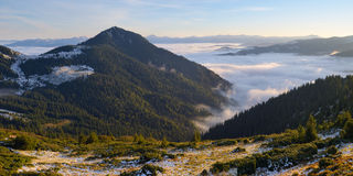 Morning landscape in the mountains Stock Photography