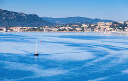 Morning landscape of Porto-Vecchio bay, Corsica Royalty Free Stock Photos