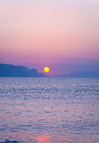 Morning landscape with sunrise over sea Stock Images