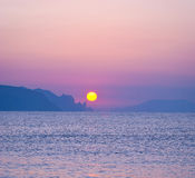 Morning landscape with sunrise over sea.  Stock Photography