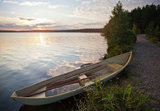 Free Morning Landscape With Old Row Boat Royalty Free Stock Photos - 26653068