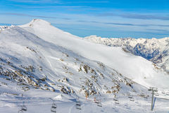 Morning in Les Deux Alpes Stock Photography